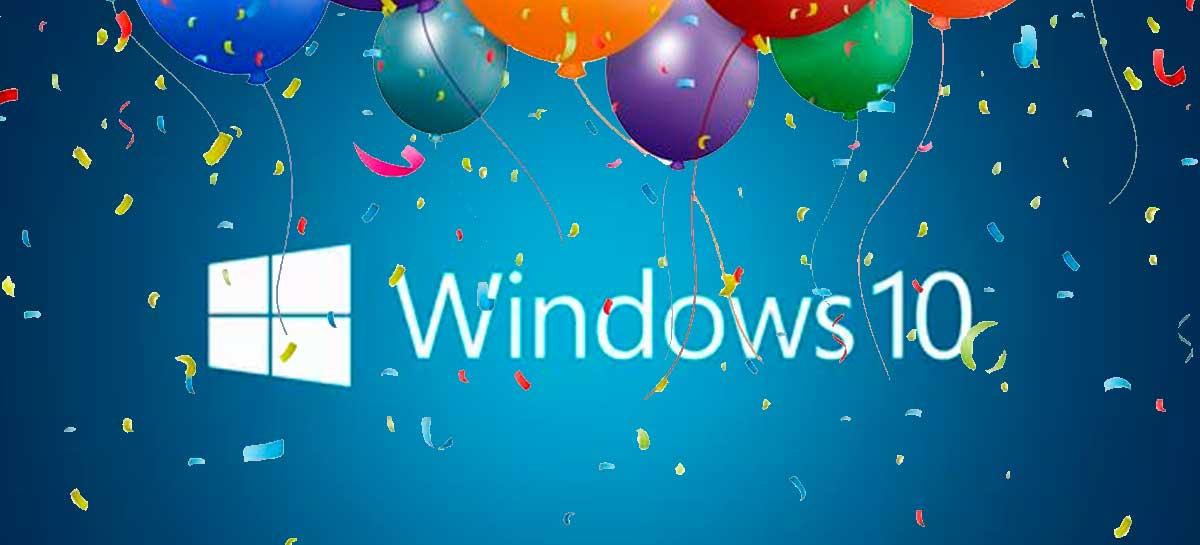 Windows 10 está completando cinco anos no mercado
