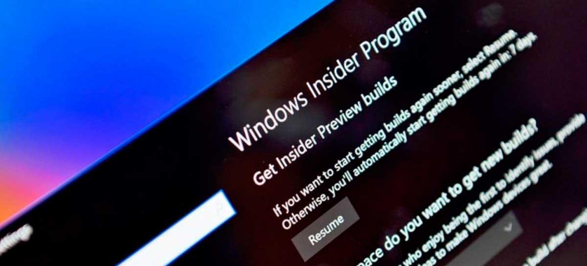 Microsoft está reformulando o seu programa Windows Insider