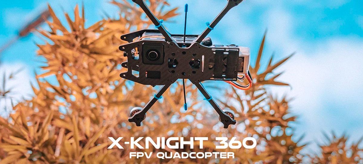 Quadcopter X Knight 360 FPV é o drone perfeito para a câmera Insta360 OneR