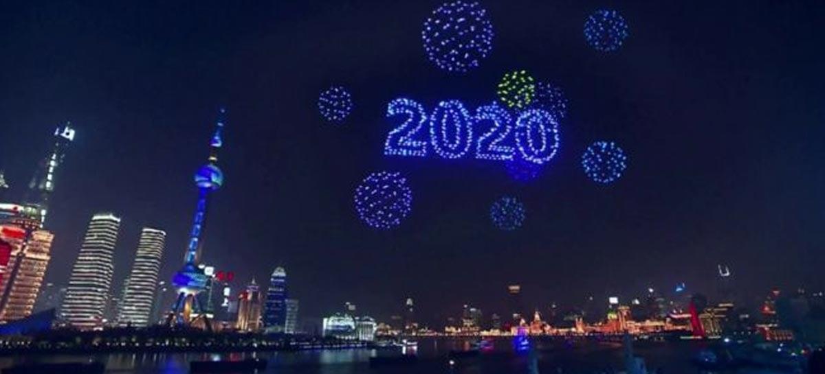 Apresentação de Ano Novo com drones em Xangai não aconteceu ao vivo