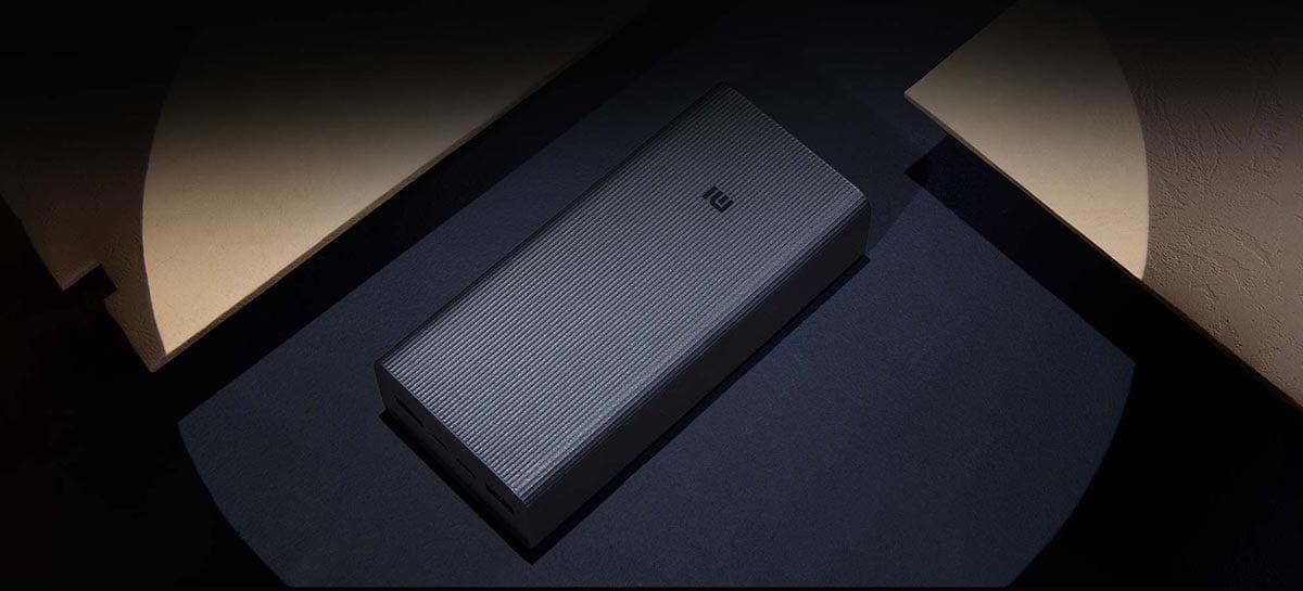 Xiaomi lança seu novo power bank de 30000mAh e carregamento de 18W
