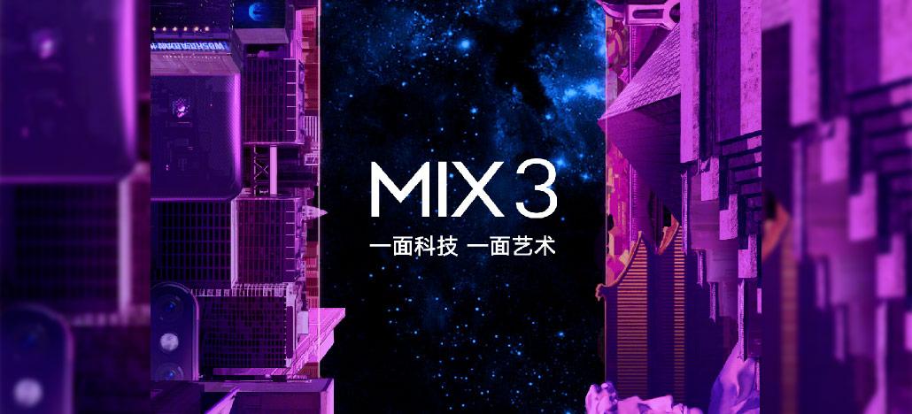 Xiaomi Mi Mix 3 chega no dia 25 de outubro e deve vir com câmera retrátil