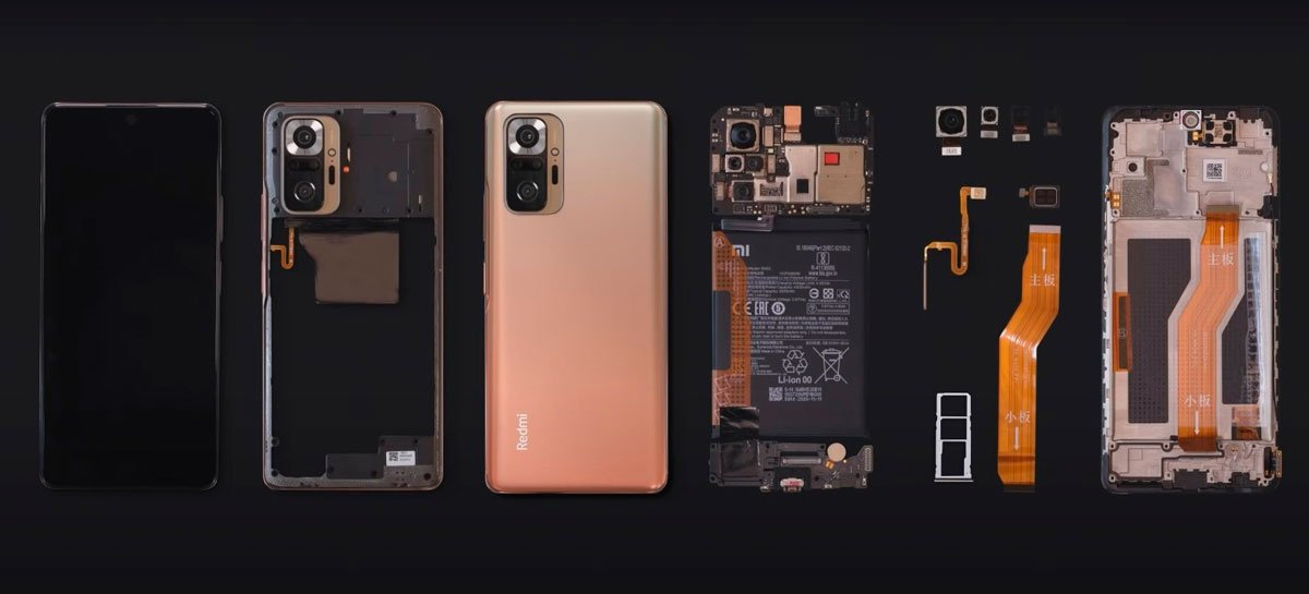 Redmi Note 10 Pro é desmontado e mostra câmera de 108MP e outras partes internas