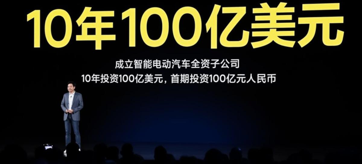 Xiaomi investirá US$ 10 bilhões em carros elétricos