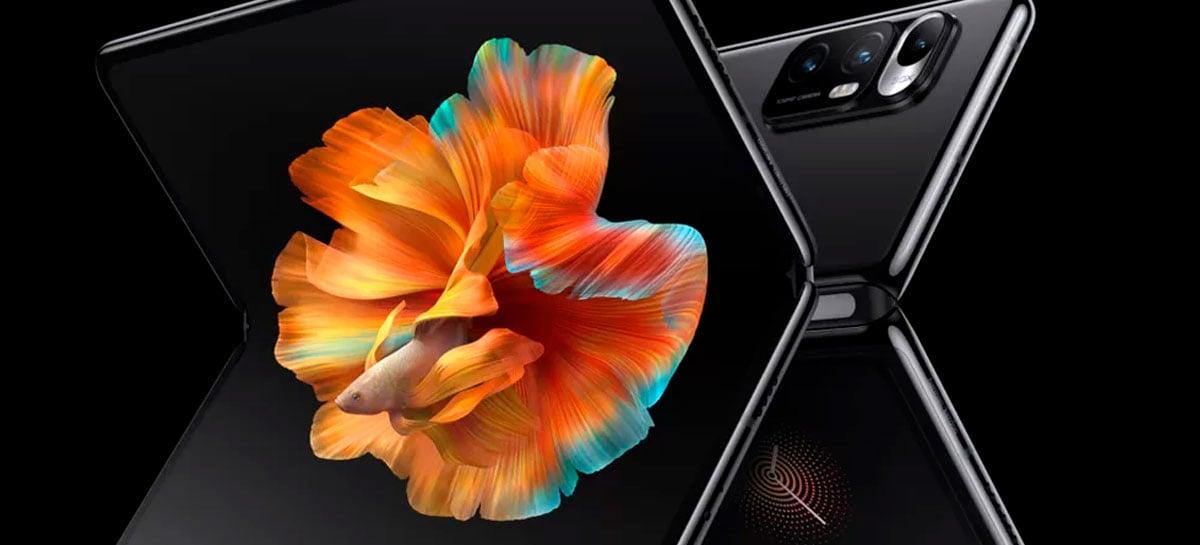 Celular com tela dobrável da Xiaomi usará quase 100% da tela