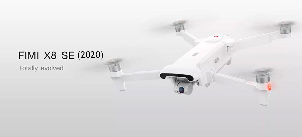Novo drone FIMI X8 SE (2020) tem 35 min de autonomia, voa até 8KM e custa US$399 [+CUPOM]