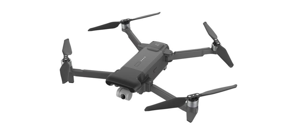 Drone FIMI X8 SE em edição limitada na cor preta aparece em anúncio