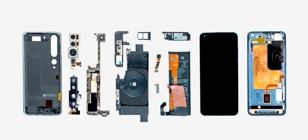 Xiaomi mostra como são os componentes internos do Mi 10 Pro