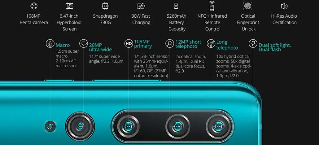 Xiaomi Mi Note 10 tem seu preço mais baixo desde o lançamento - Agora por US$439