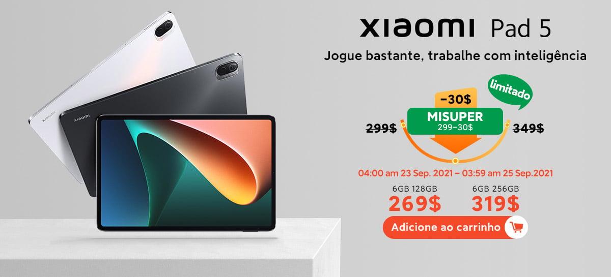 Novo tablet Xiaomi Pad 5 com Snapdragon 860 à venda dia 23 de setembro em promoção