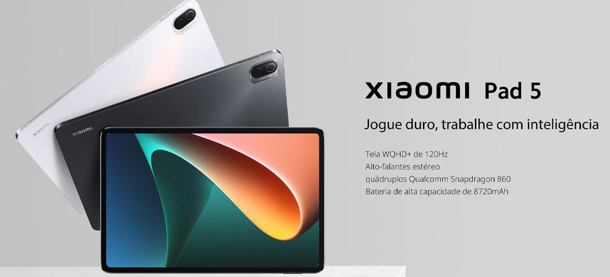 Tablet Xiaomi Pad 5 de alto desempenho com Snapdragon 860 em promoção