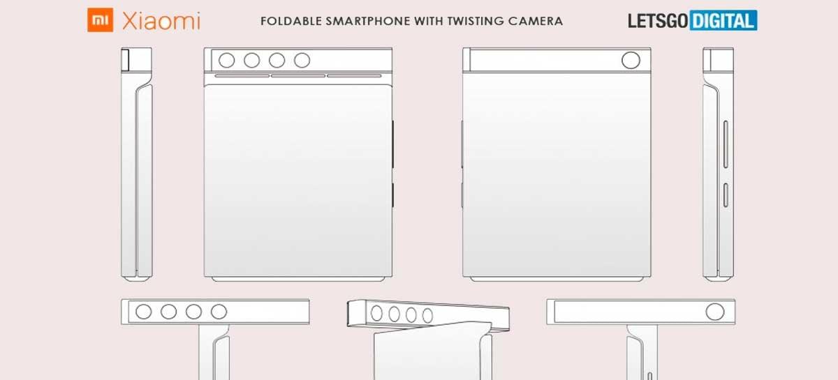 Xiaomi registra patente de smartphone dobrável com câmera giratória