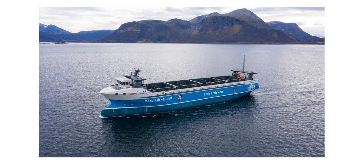 Primeiro navio de carga elétrico autônomo começa a operar ainda em 2021