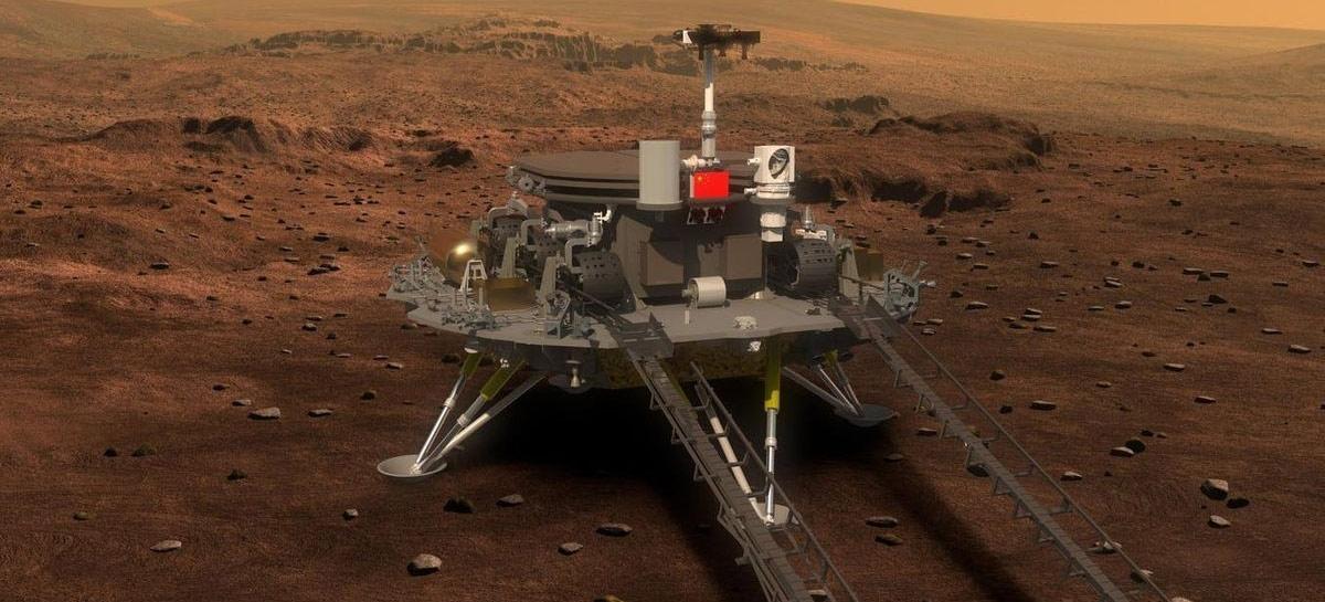 Sonda Zhurong, da China, pousa com sucesso em Marte