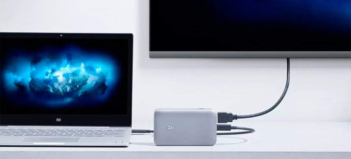 ZMI lança powerbank com 10.000 mAh que também funciona como hub HDMI e USB